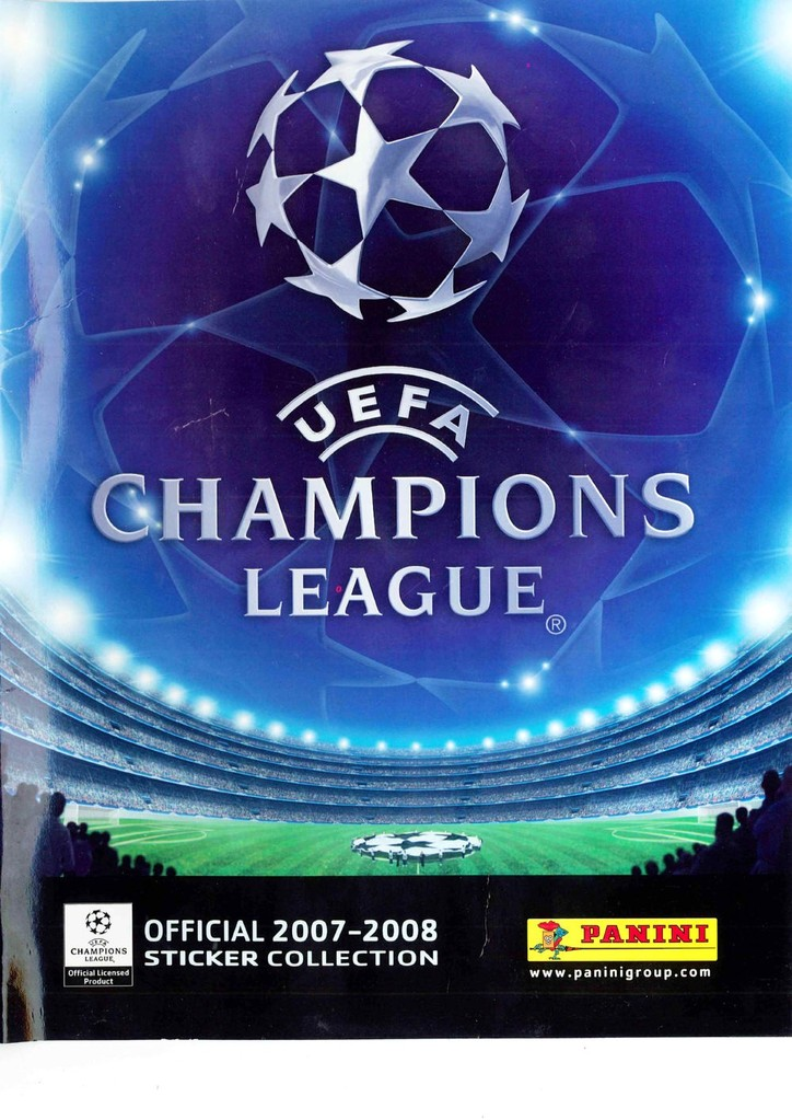 2007-08 - Panini Champions League - Couverture