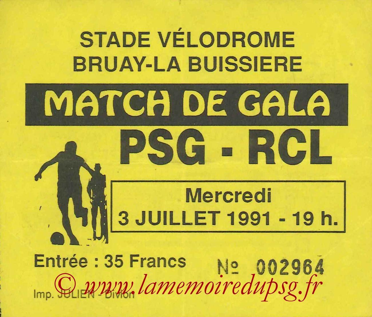 1991-07-03  PSG-Lens (Amical à Bruay-la-Buissiere)