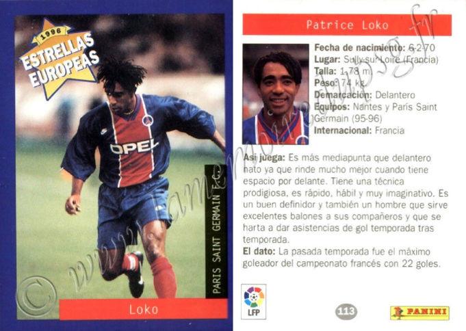 N° 113 - Patrice LOKO