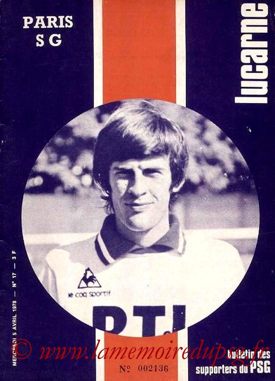 1978-04-05  PSG-Sochaux  (33ème D1, Lucarne N°17)