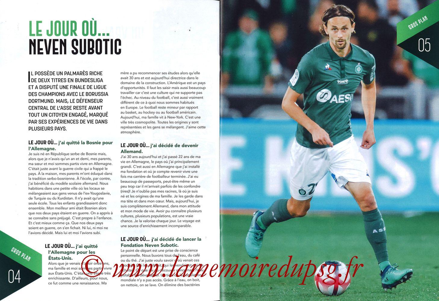 2019-02-17  Saint Etienne-PSG (25ème L1, Maillot Vert N° 13) - Pages 04 et 05