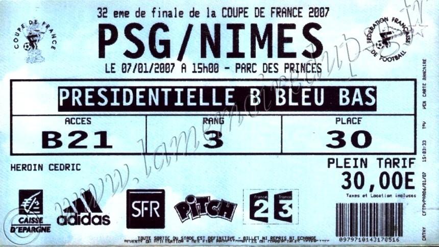 2007-01-07  PSG-Nîmes (32ème Finale CF, bis)