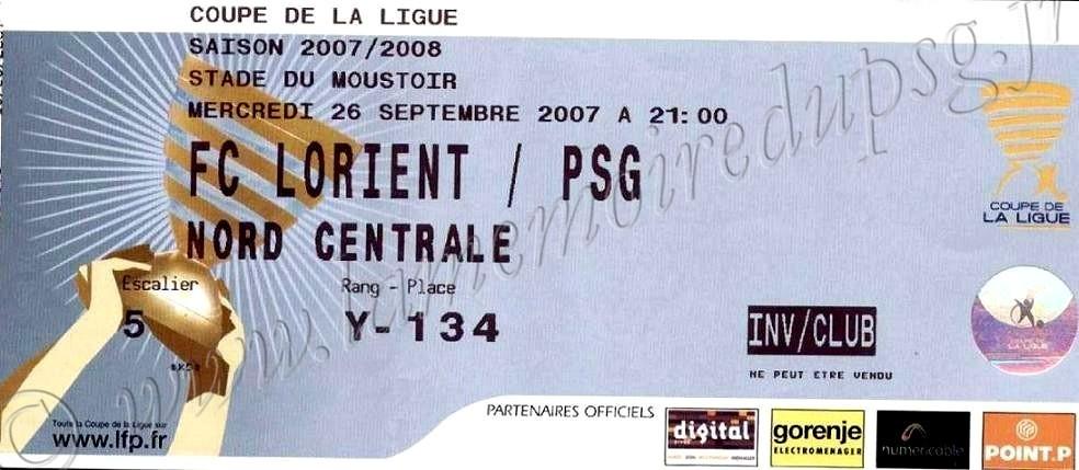 2007-09-26  Lorient-PSG (16ème Finale CL)