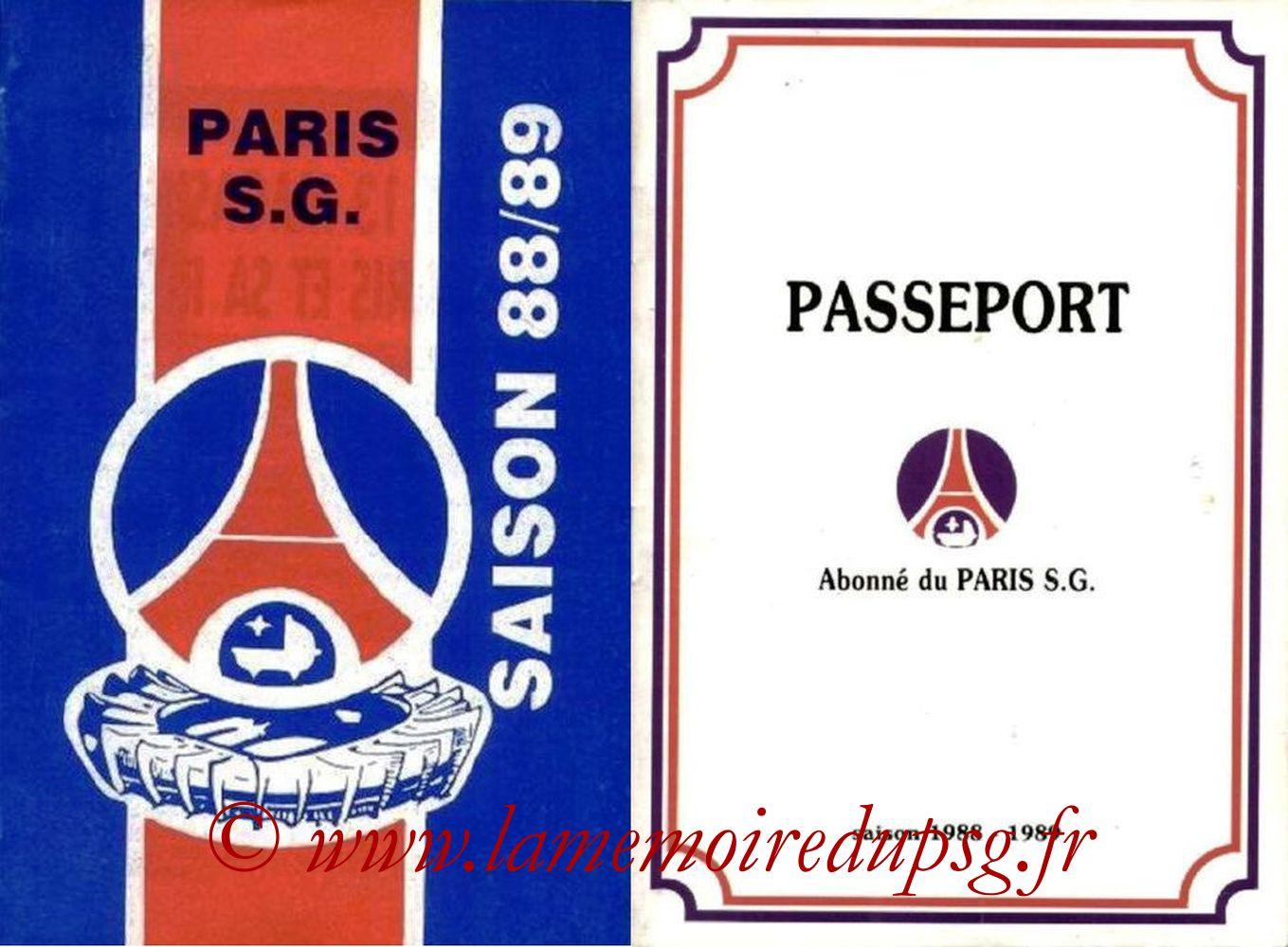 1988-89 - Guide de la Saison PSG