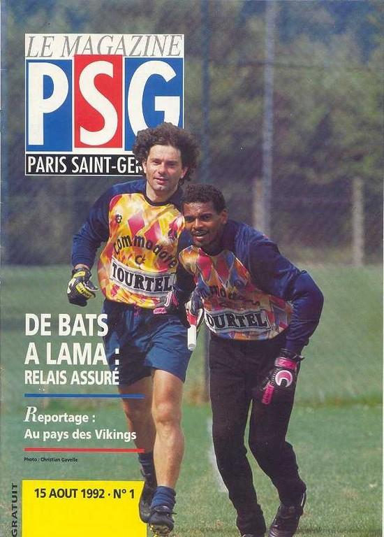 1992-08-15  PSG-Sochaux (2ème D1, Le Magazine PSG N°1)
