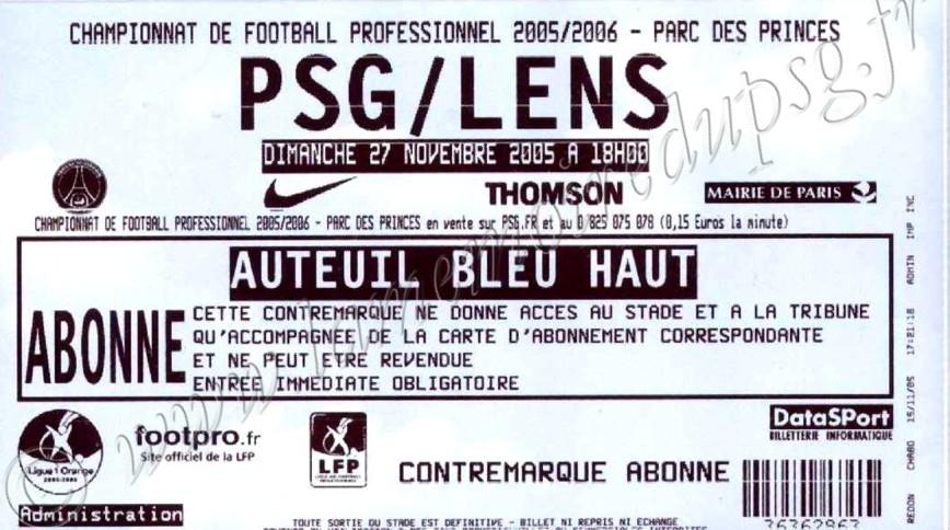 2005-11-27  PSG-Lens (16ème L1)