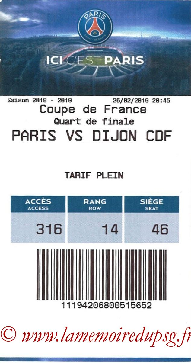 2019-02-26  PSG-Dijon (Quart CF, E-ticket)