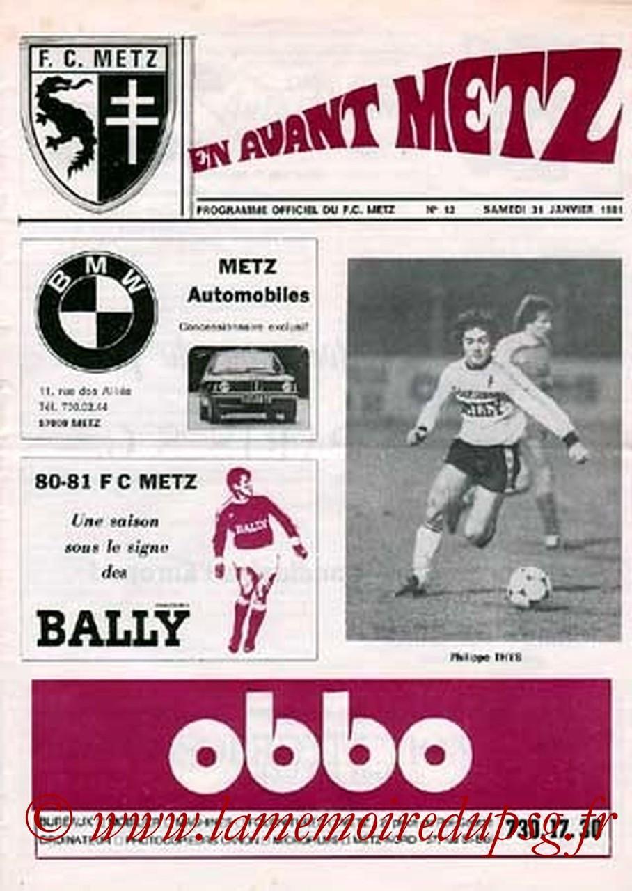 1981-01-31  Metz-PSG (25ème D1, En Avant Metz N°12)