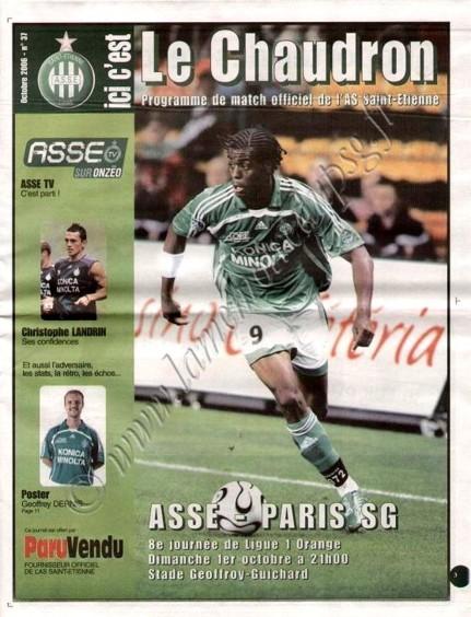 2006-10-01  Saint Etienne-PSG (8è L1, Le Chaudron N°37)