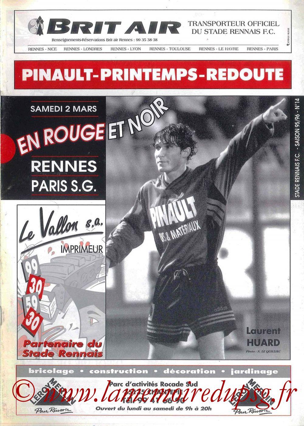 1996-03-02  Rennes-PSG (30ème D1, En Rouge et Noir N°14)