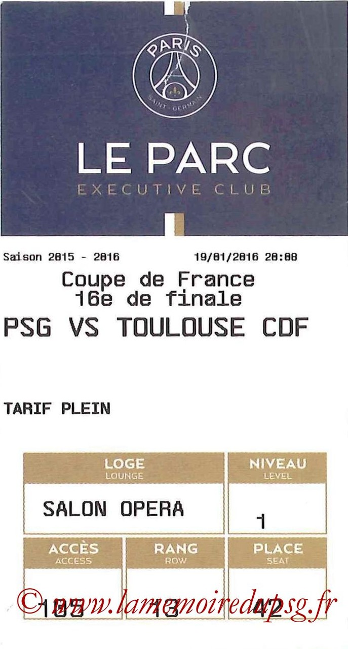 2016-01-19  PSG-Toulouse (16ème CF, E-ticket Executive club)
