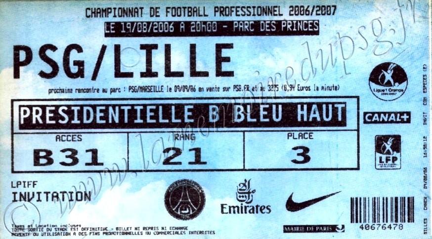 2006-08-19  PSG-Lille (3ème L1, bis)