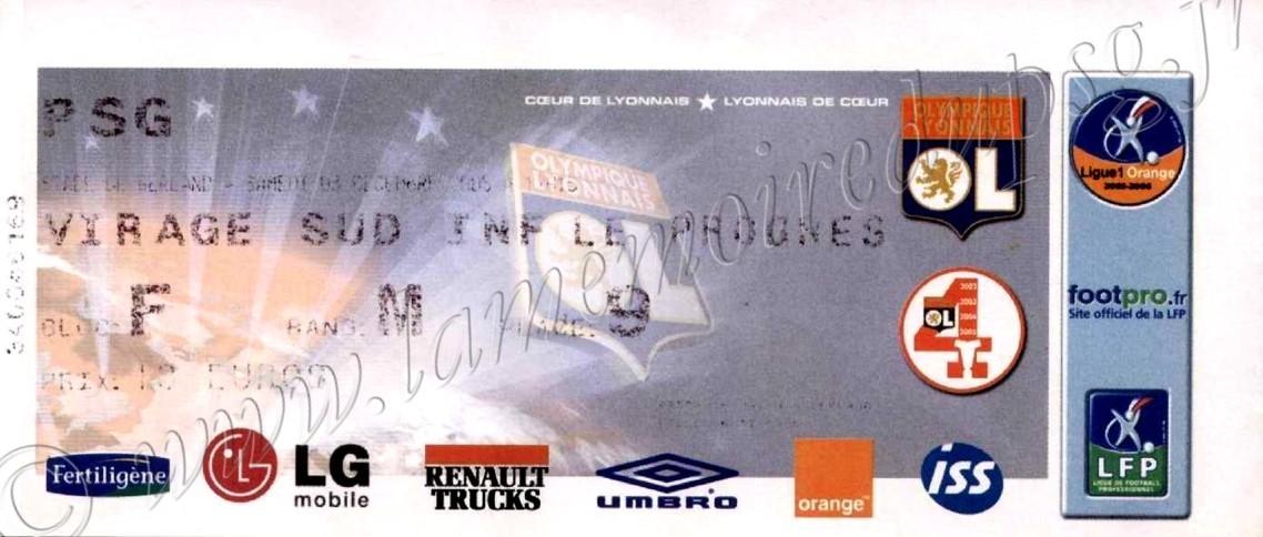 2005-12-03  Lyon-PSG (17ème L1)