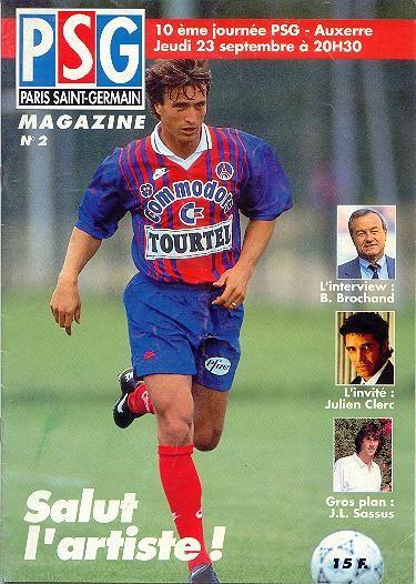 1993-09-23  PSG-Auxerre (10ème D1, PSG Magazine N°2)