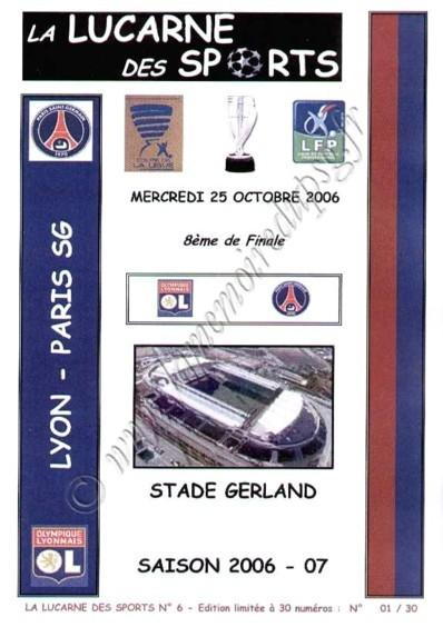 2006-10-25  Lyon-PSG (16ème Finale CL, La lucarne des sports N°6)