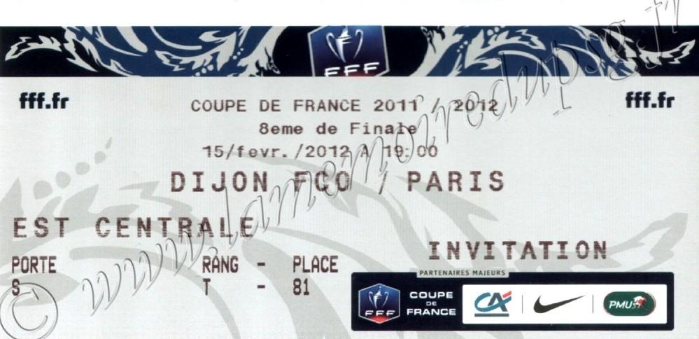 2012-02-15  Dijon-PSG (8ème Finale CF)
