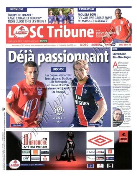 2010-08-15  Lille-PSG (2ème L1, LOSC Tribune N°114)