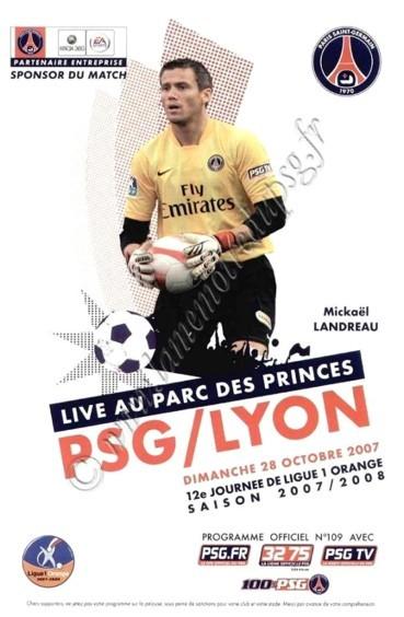 2007-10-28  PSG-Lyon (12ème L1, Officiel PSG N°109)