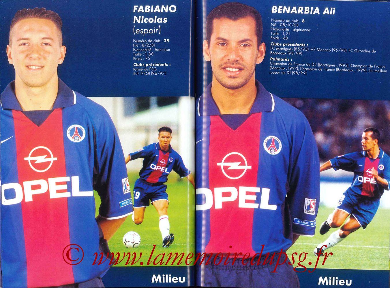 2000-01 - Guide de la Saison PSG - Pages 48 et 49