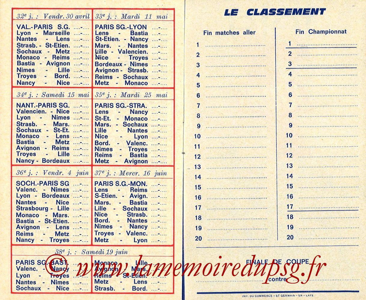 1975-76- Guide de la Saison PSG - Pages 10 et 11