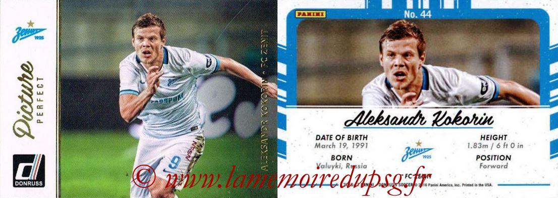 2016 - Panini Donruss Cards - N° PP44 - Aleksandr KOKORIN (FC Zenit) (Picture Perfect)