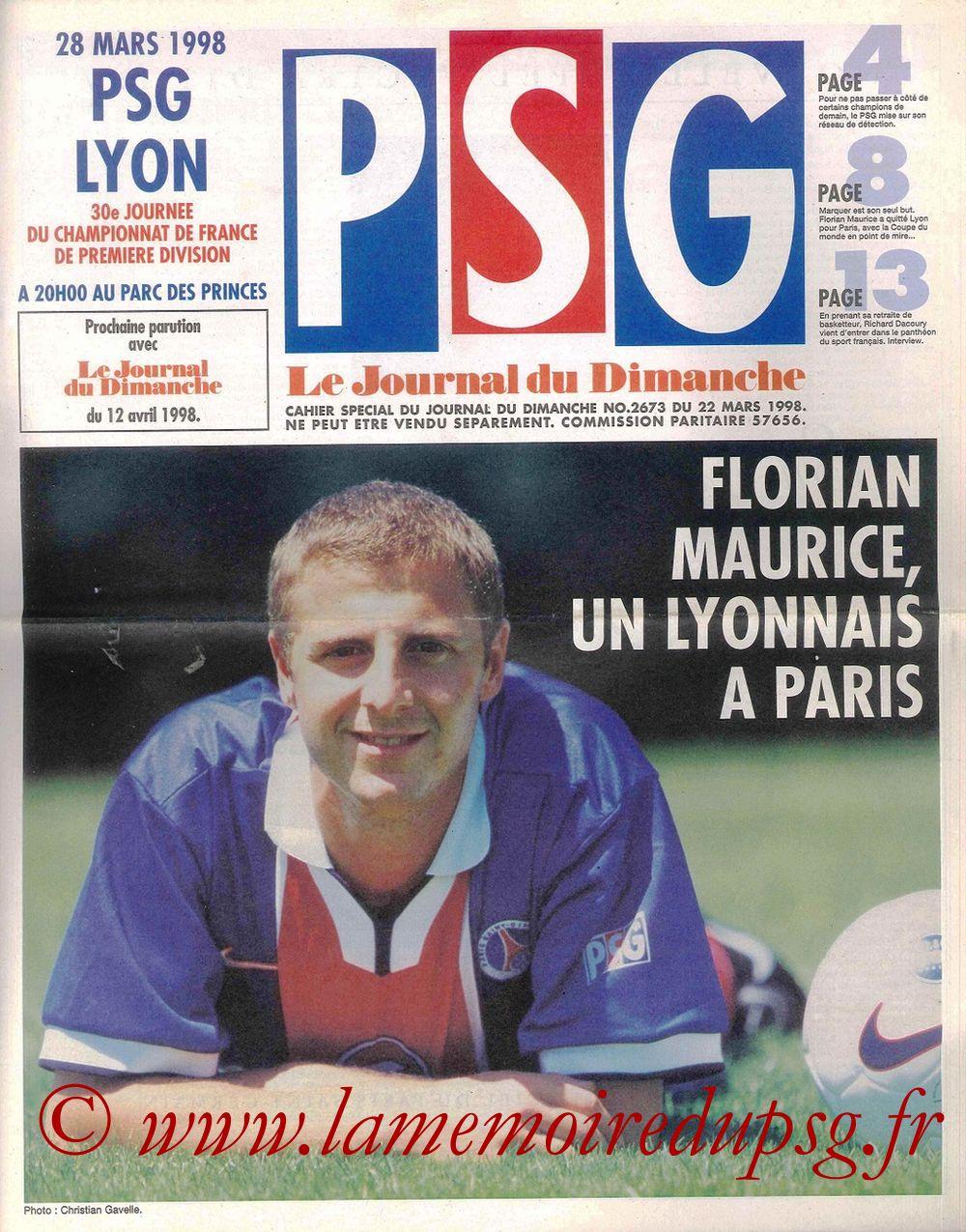 1998-03-28  PSG-Lyon (30ème D1, Le Journal du PSG N° 59