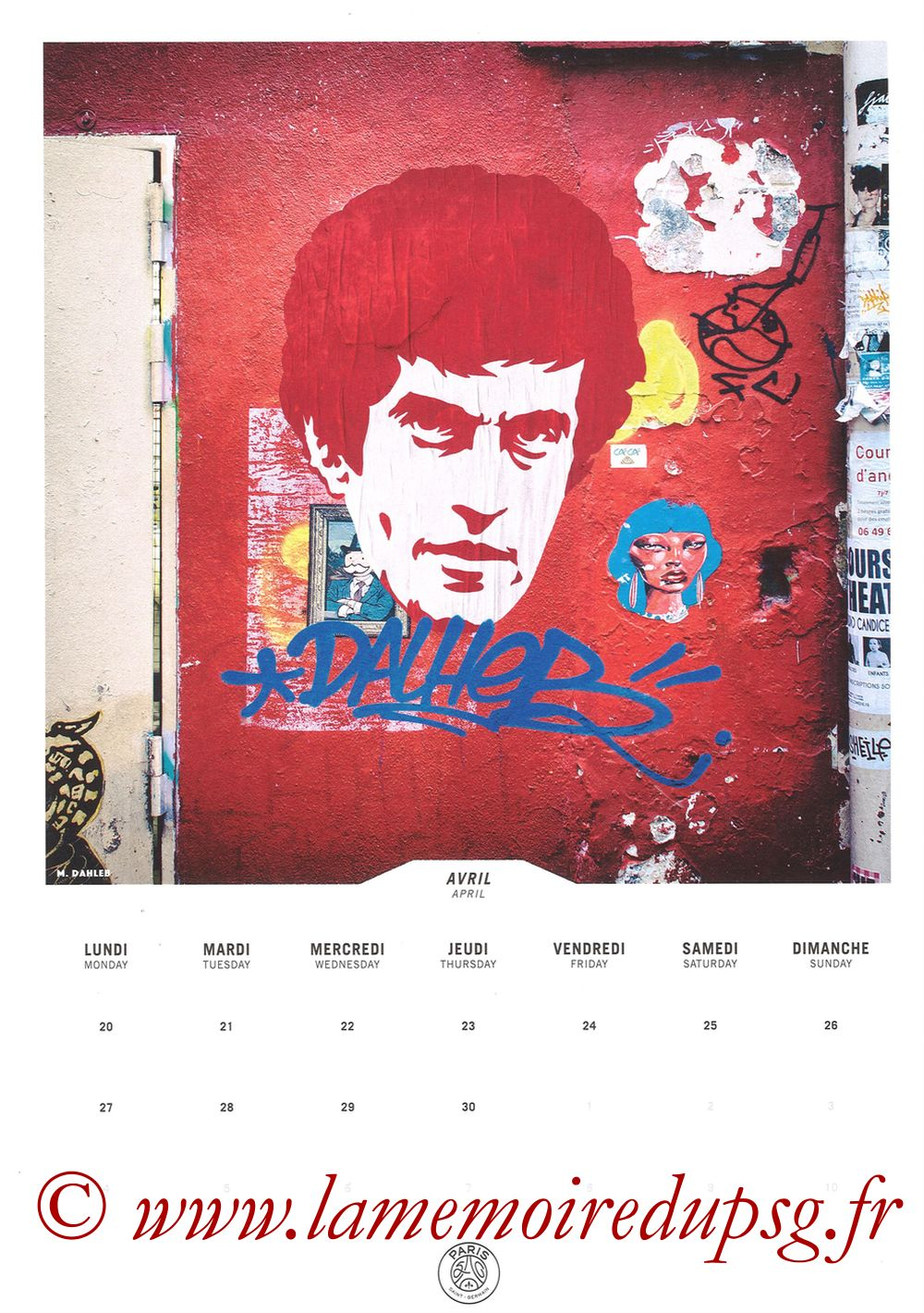 Calendrier PSG 2020 - Page 08 - DAHLEB