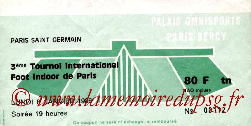 1986-01-06  PSG-FC Liège et PSG-Real Sociedad (3ème Foot indoor à Bercy, 1ère journée)