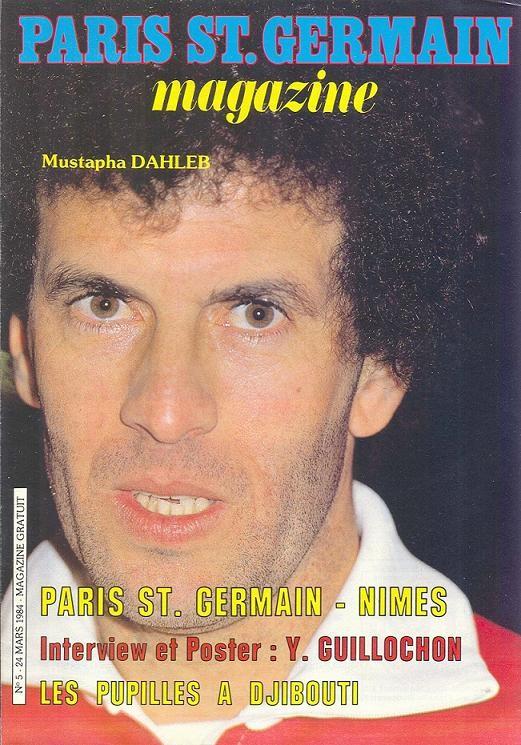 1984-03-24  PSG-Nimes (32ème D1, Paris St Germain Magazine N°5)