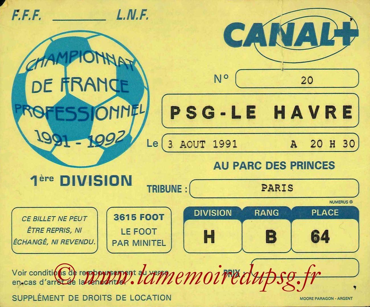 1991-08-03  PSG-Le Havre (4ème D1)