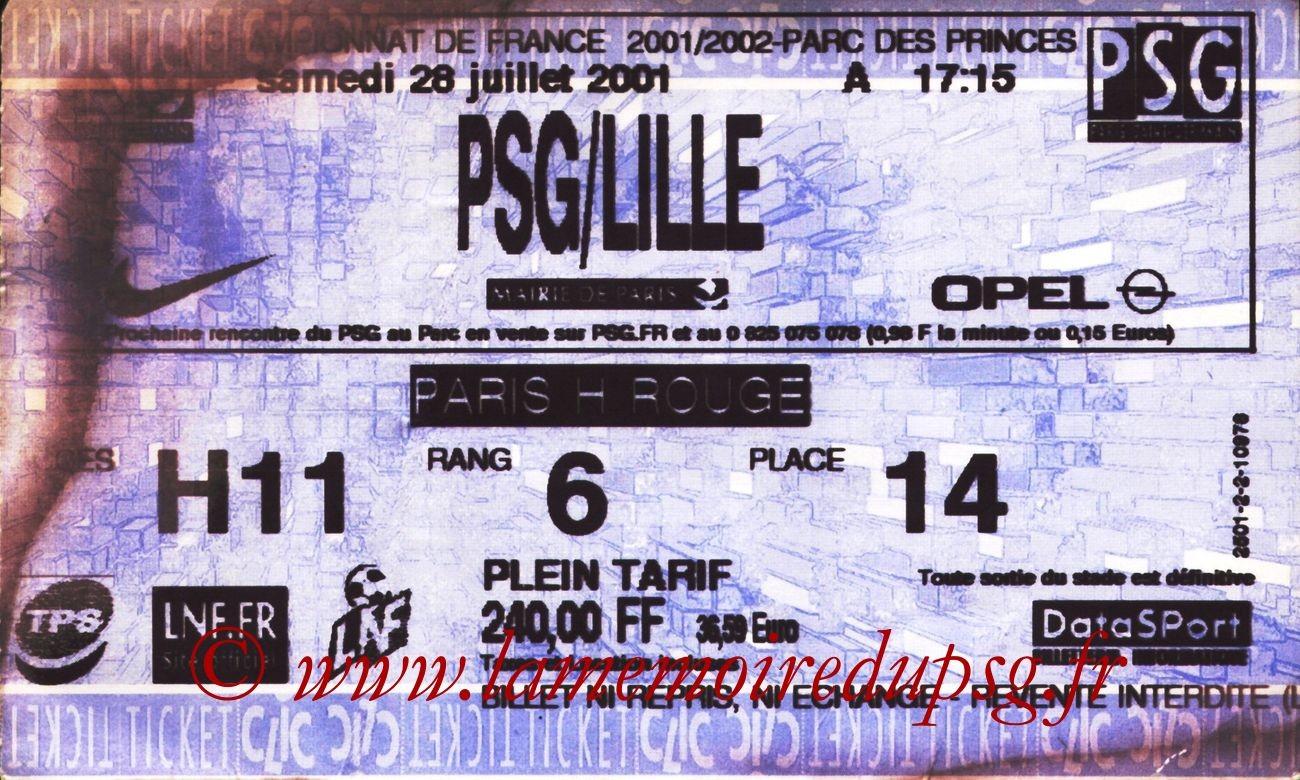 2001-07-28  PSG-Lille (1ère D1, Ticketclic)