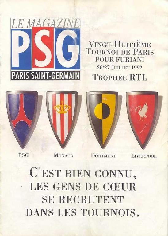 1992-07-26 et 27  PSG-Borussia Dortmund et PSG-Monaco (28ème Tournoi de Paris, Le Magazine PSG N°HS)