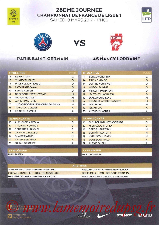 2017-03-04  PSG-Nancy (28ème L1, Feuille de match)