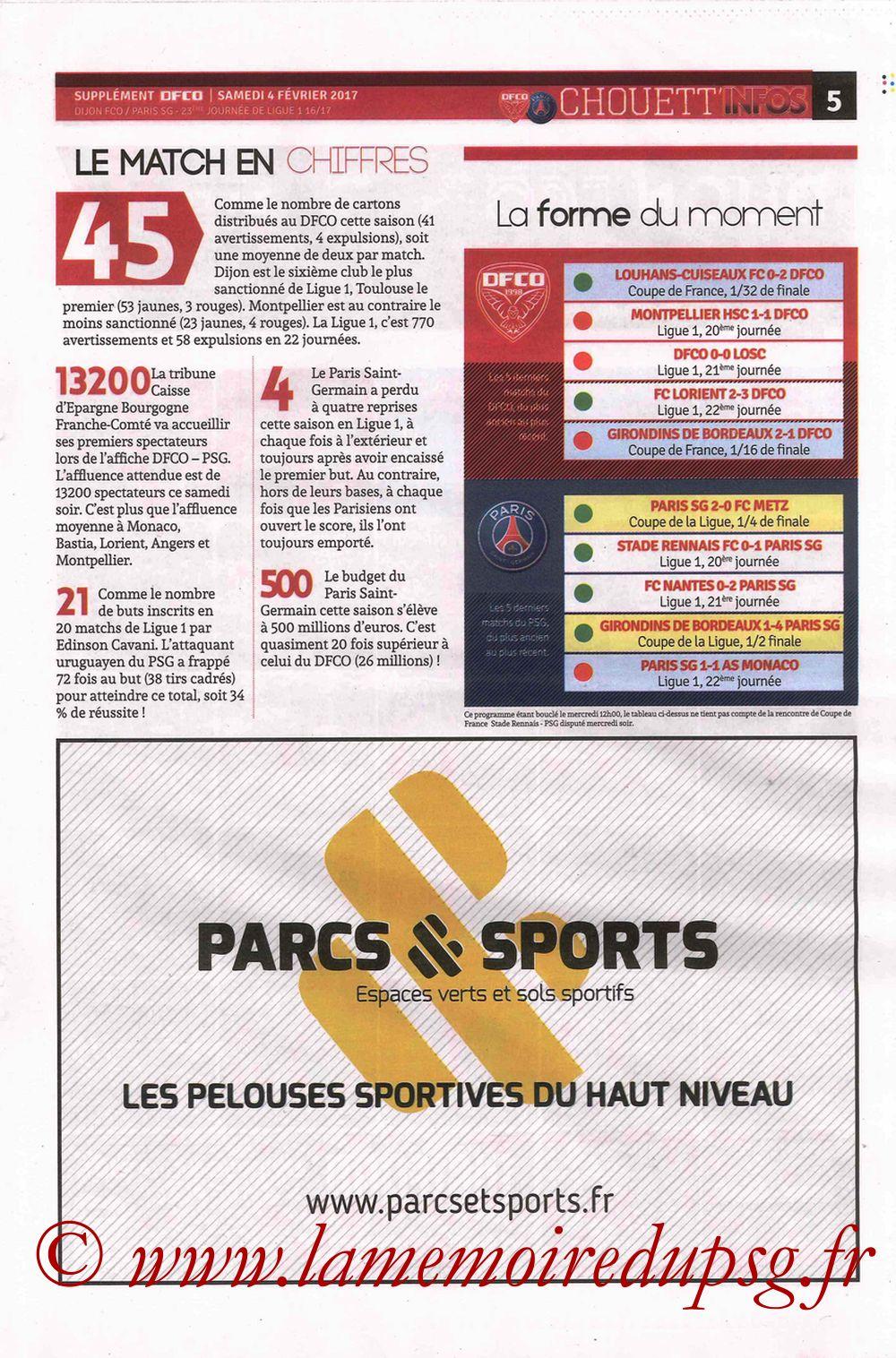 2017-02-04  Dijon-PSG (23ème L1, Chouett' Info N°12) - Page 5
