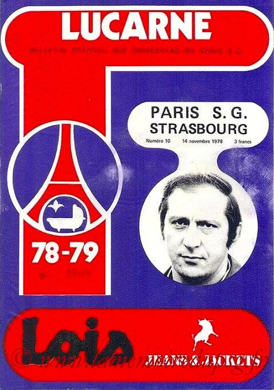 1978-11-14  PSG-Strasbourg (19ème D1, Lucarne N°10)