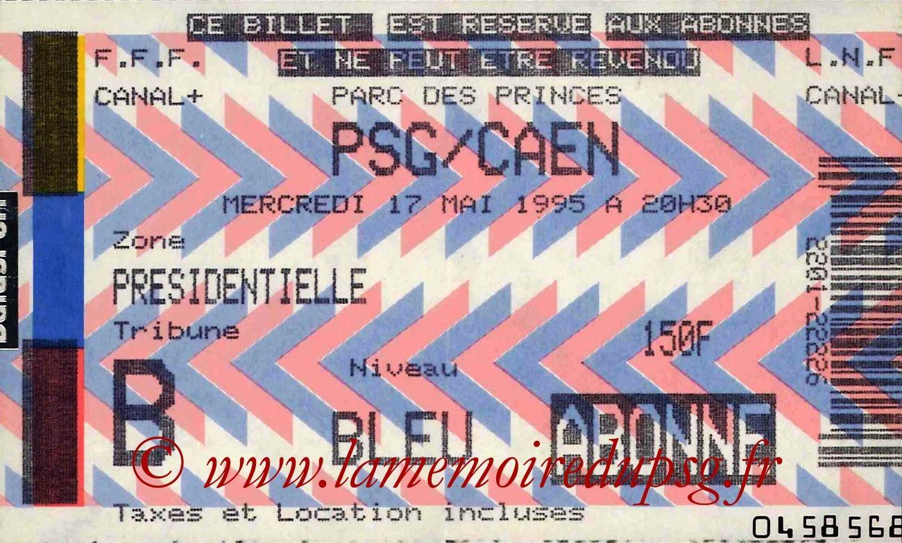 1995-05-17  PSG-Caen (29ème D1, Match en retard)