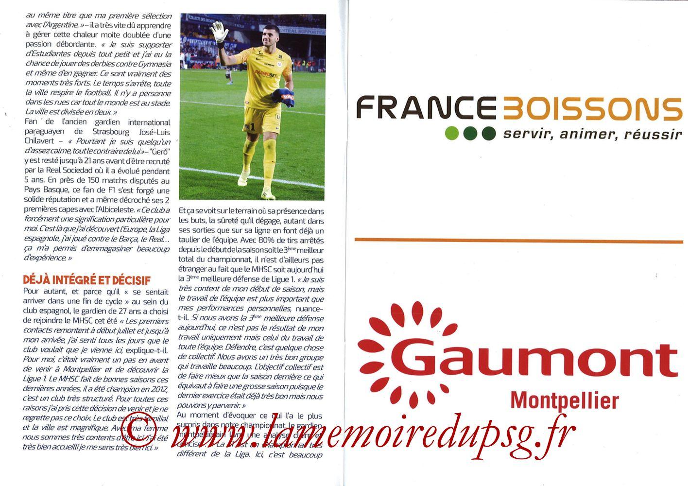 2019-12-07  Montpellier-PSG (17ème L1, L'Echo de la Mosson N°9) - Pages 04 et 05