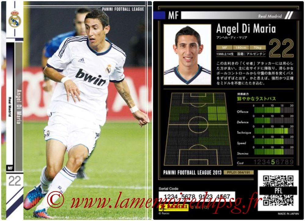 N° 064 - Angel Di Maria (2012-13, Real Madrid, ESP > 2015-??, PSG)