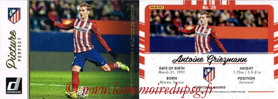 2016 - Panini Donruss Cards - N° PP28 - Antoine GRIEZMANN (Atletico de Madrid) (Picture Perfect)