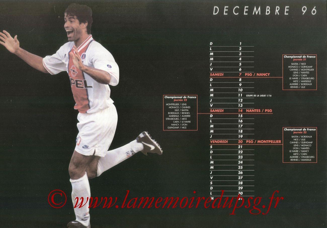 Calendrier PSG 1996-97 - Page 05 - RAI