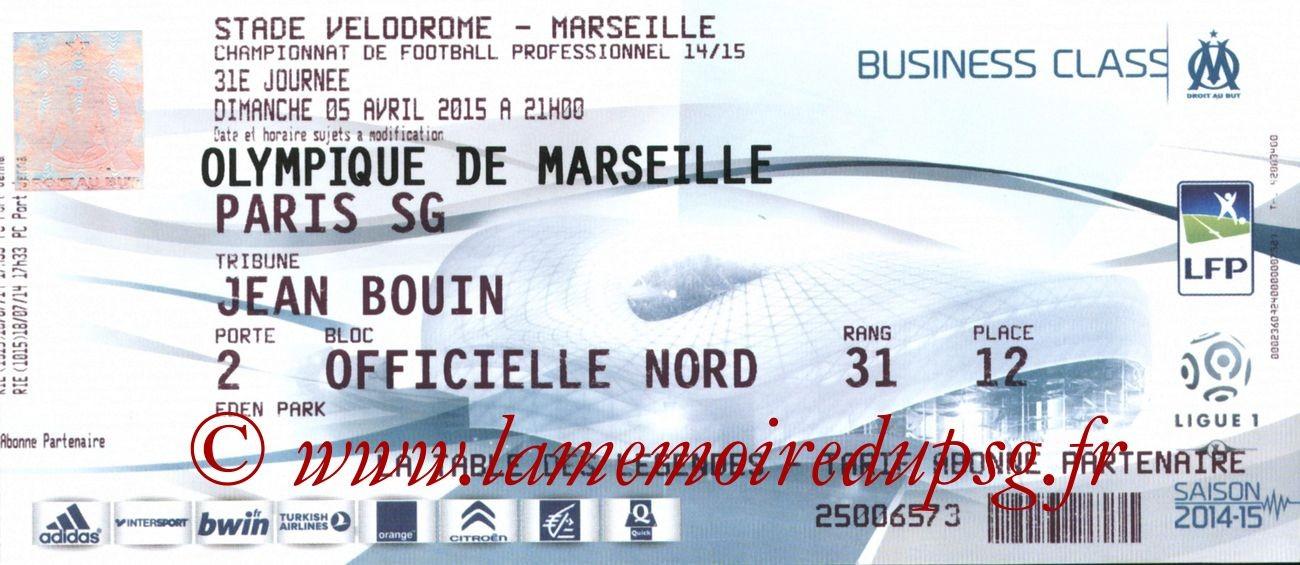 2015-04-05  Marseille-PSG (31ème L1)