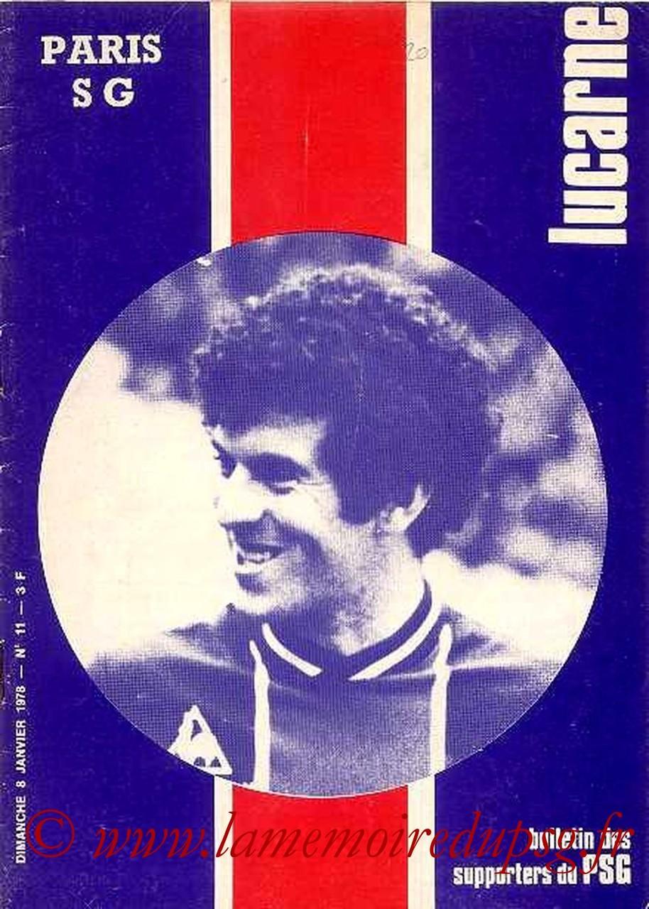 1978-01-08  PSG-Marseille (23ème D1, Lucarne N°11)