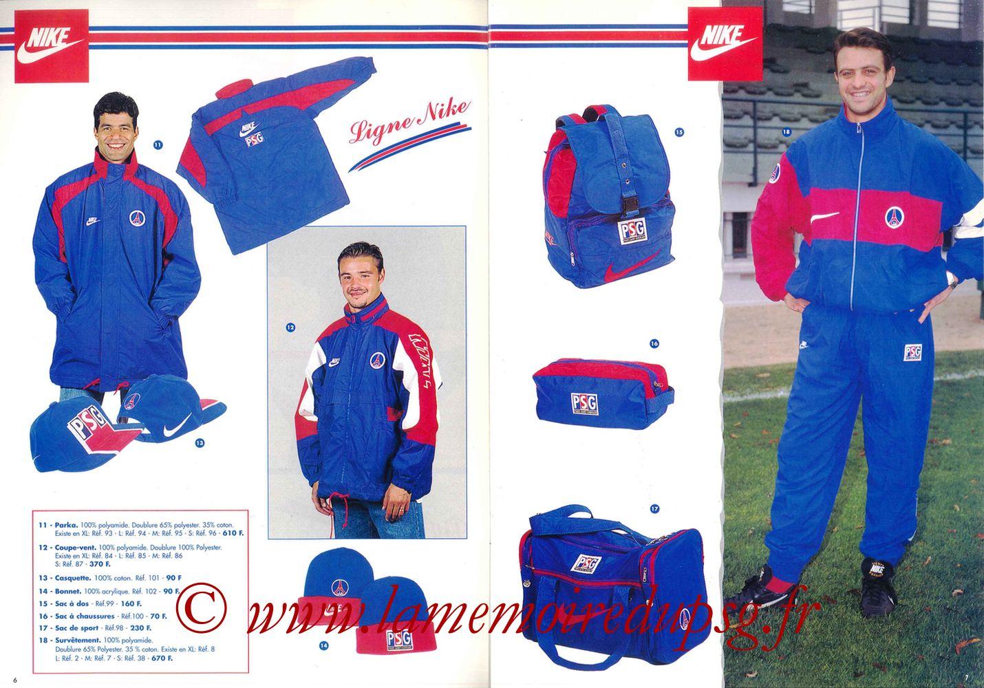 Catalogue PSG - 1995-96 - Pages 06 et 07