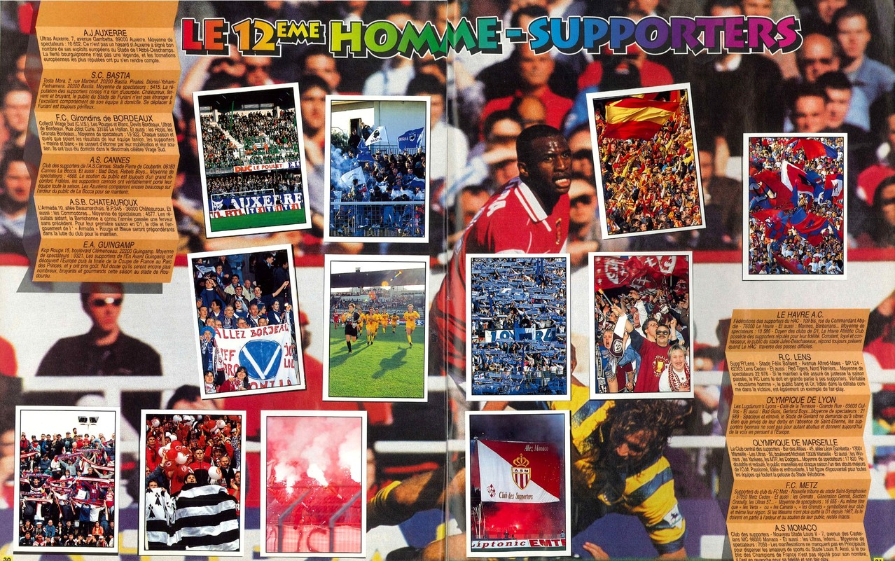 1997-98 - Panini Superfoot - Pages 30 et 31 - Le 12ème homme-supporters