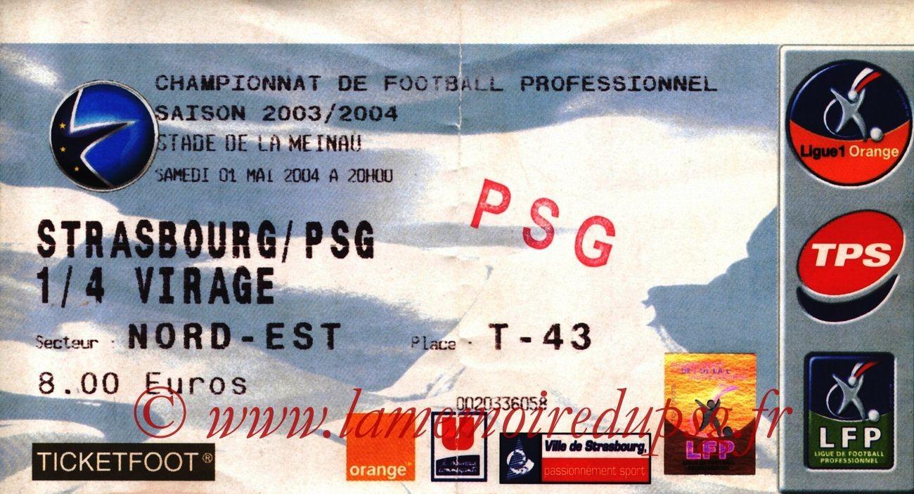 2004-05-01  Strasbourg-PSG (34ème L1)