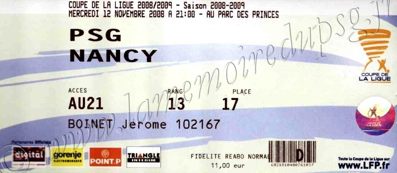 2008-11-12  PSG-Nancy (8ème Finale CL)