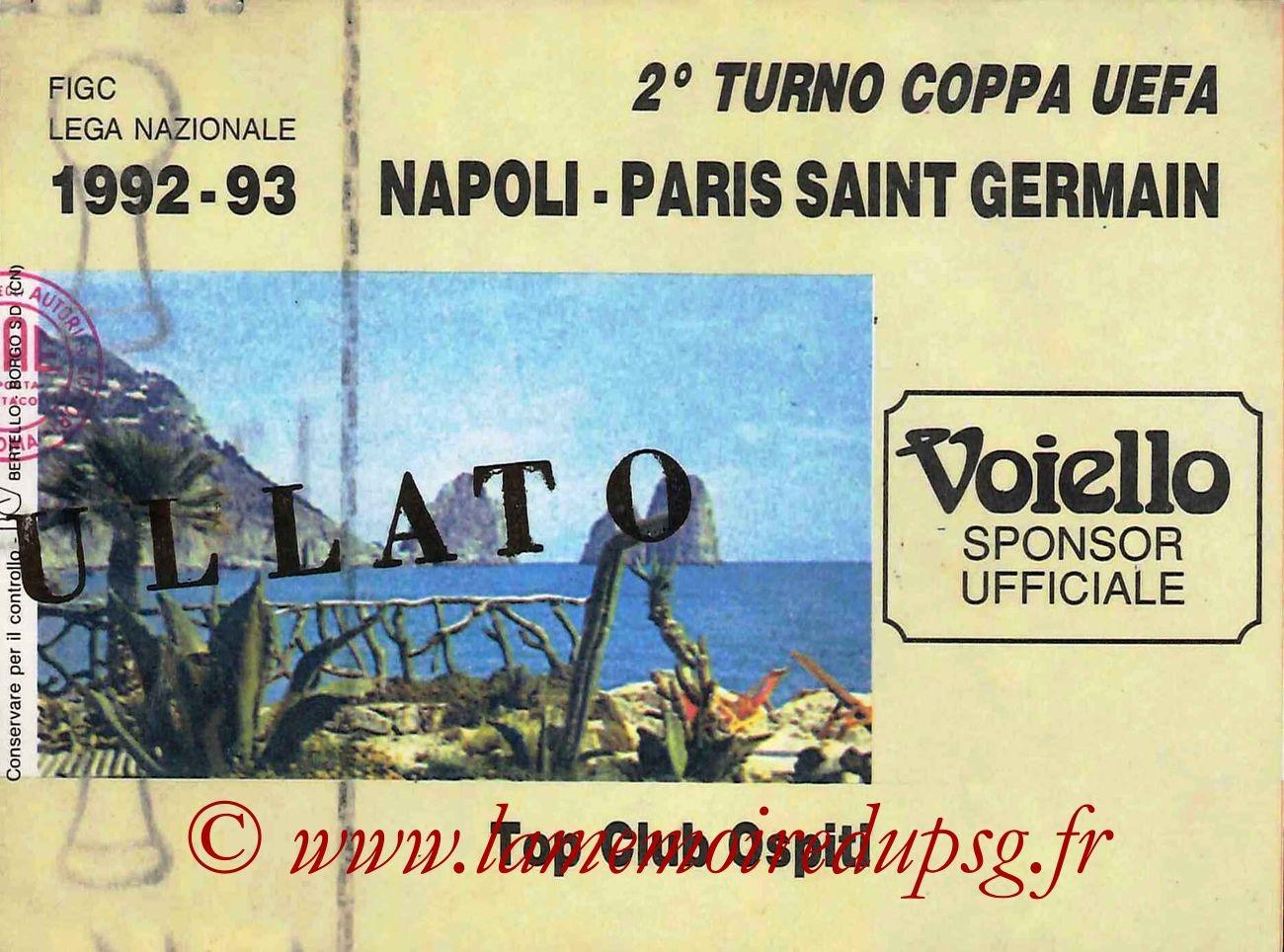 1992-10-20  Naples-PSG (16ème Aller C3)