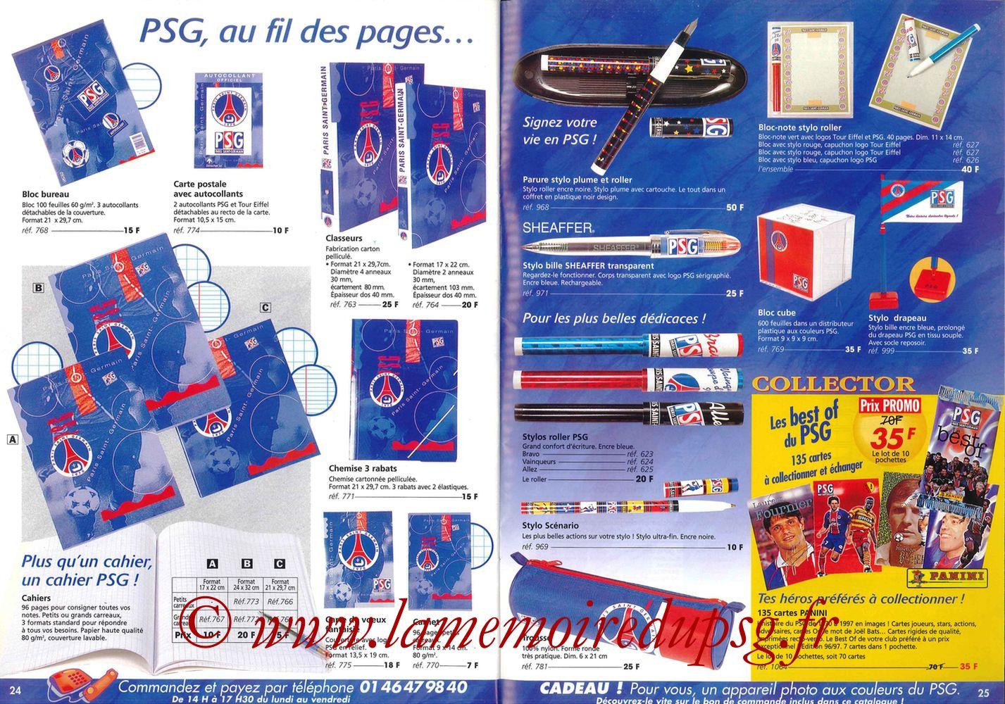 Catalogue PSG - 1997-98 - Pages 24 et 25