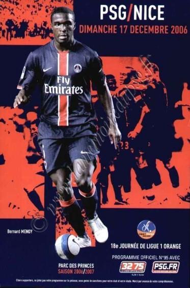 2006-12-17  PSG-Nice (18ème L1, Officiel N°95)