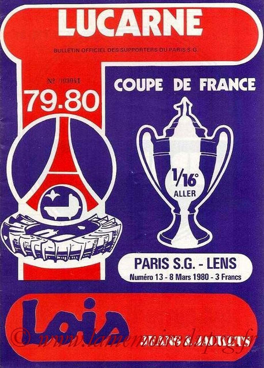 1980-03-08  PSG-Lens (16ème Aller CF, Lucarne N°13)